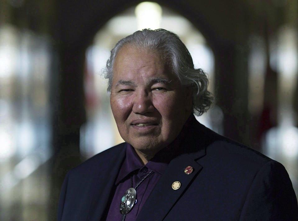 A portrait of former senator Murray Sinclair taken in the halls of Parliament Hill