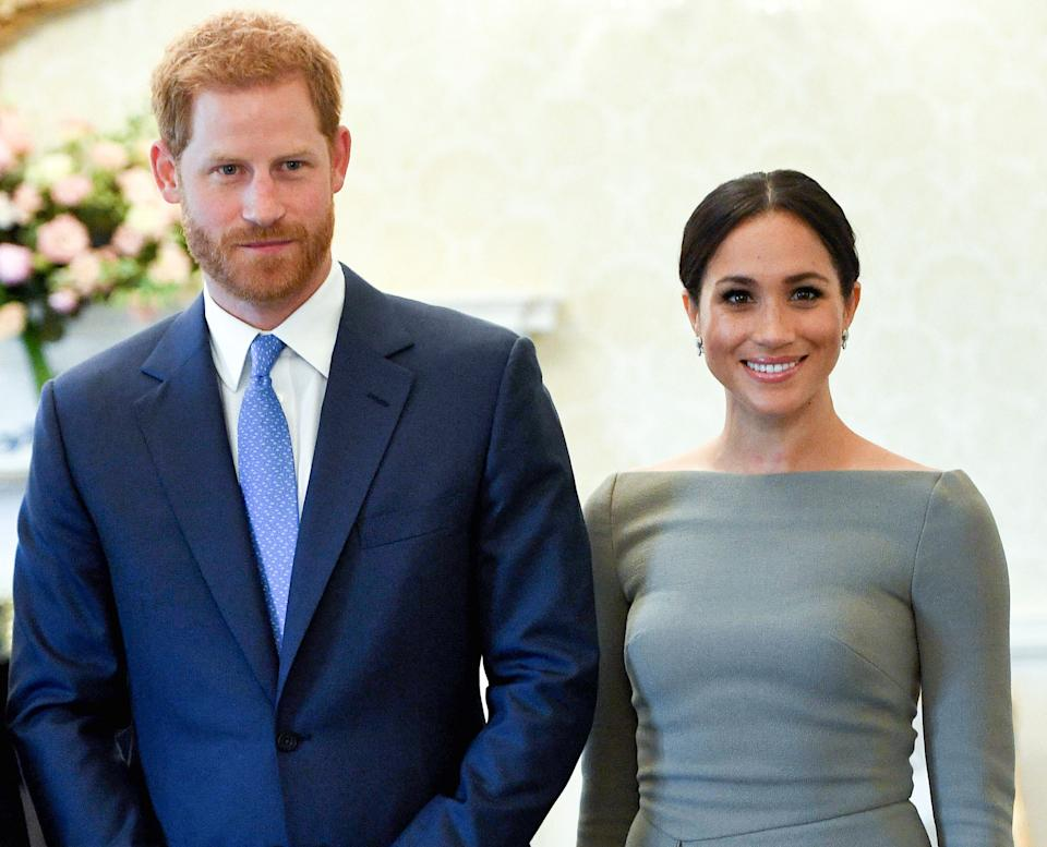 Prince Harry and Meghan, Duchess of Sussex in Dublin during a royal visit to Ireland in 2018.At the time, they wouldn't have been allowed to explicitly talk politics. (Photo: Pool/Samir Hussein via Getty Images)