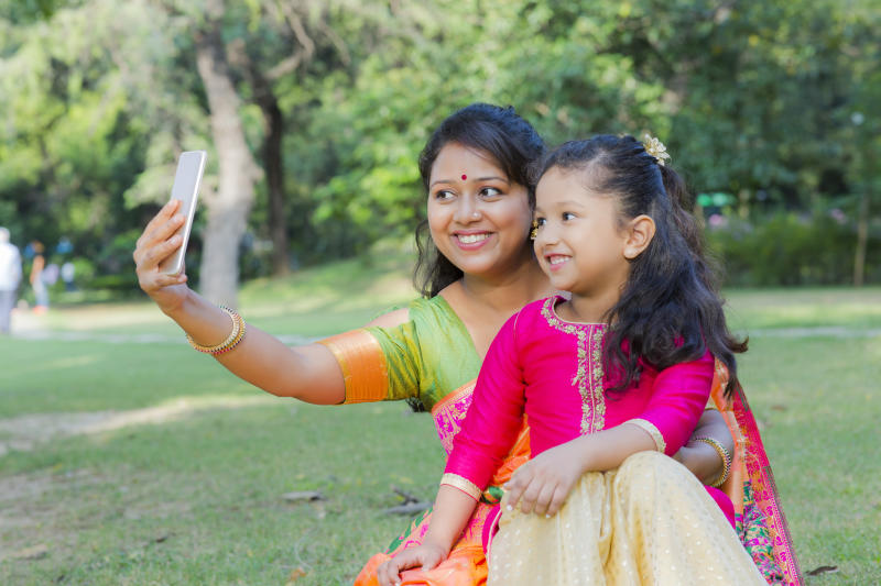 Public Park, Mother, Child, Indian, South,