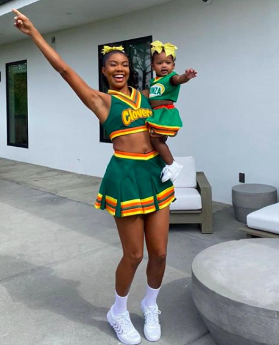Gabrielle Union as her Bring It On character on Halloween
