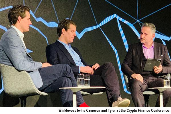 Winklevoss Twins at the Crypto Finance Conference in Switzerland January 2020