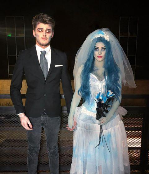 """<p>Any old white formal gown would work perfectly for a Corpse Bride costume—as long as you're cool with getting a little bit of blue dye on it. </p><p><a href=""""https://www.instagram.com/p/B4QQXtlJgJF/?utm_source=ig_embed&utm_campaign=loading"""" rel=""""nofollow noopener"""" target=""""_blank"""" data-ylk=""""slk:See the original post on Instagram"""" class=""""link rapid-noclick-resp"""">See the original post on Instagram</a></p>"""
