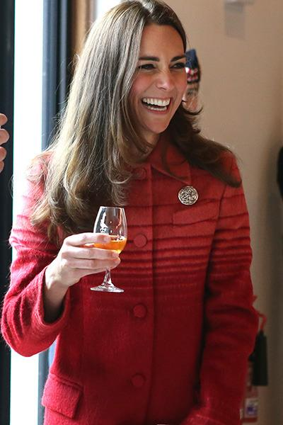 Kate Middleton in a Jonathan Saunders coat, which the designer said is 'good for business'