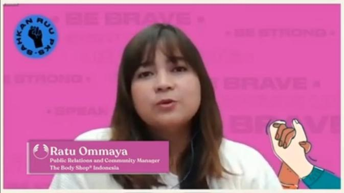 Ratu Ommaya, PR and Community Manager The Body Shop® Indonesia