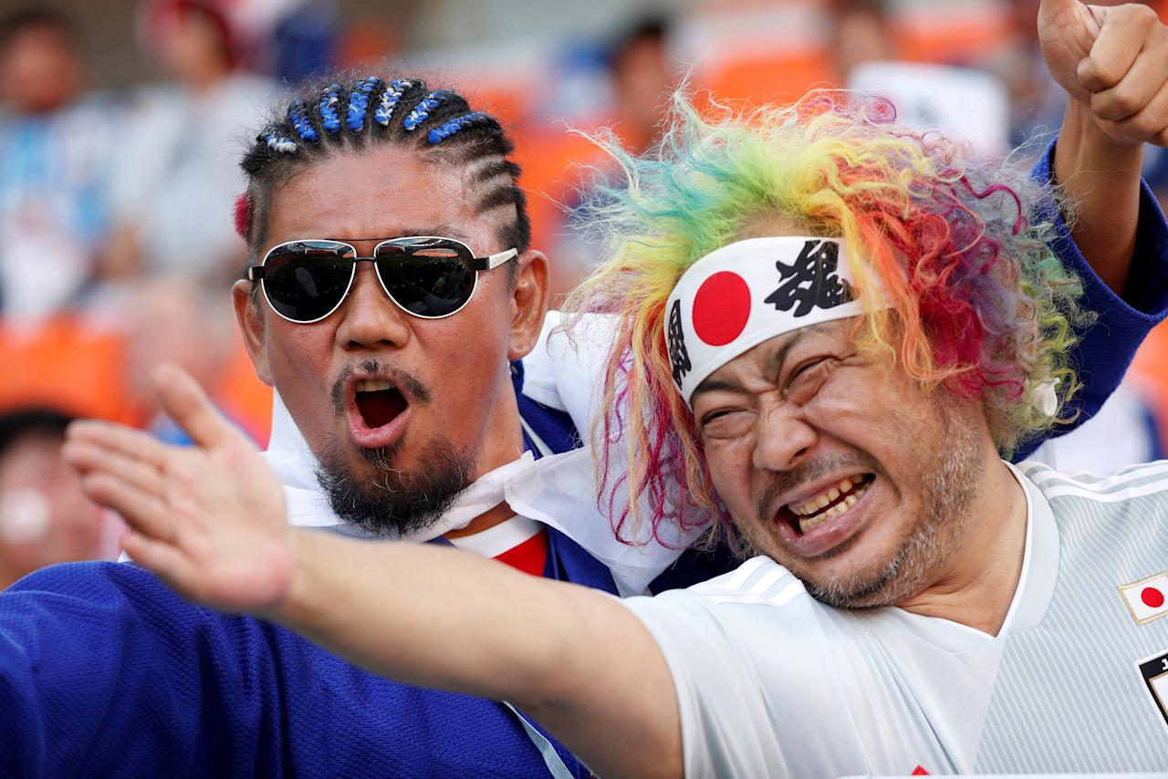 Soccer Football - World Cup - Group H - Japan vs Senegal - Ekaterinburg Arena, Yekaterinburg, Russia - June 24, 2018   Japan fans inside the stadium before the match    REUTERS/Max Rossi     TPX IMAGES OF THE DAY