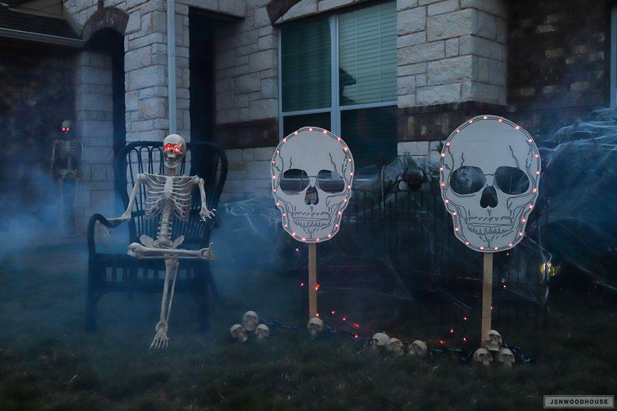 """<p>There's something extra special—and extra eerie—about DIY yard decorations. You can customize these spooky signs any way you like!<strong><br></strong></p><p><strong>Get the tutorial at <a href=""""https://jenwoodhouse.com/harvest-yard-sign/"""" rel=""""nofollow noopener"""" target=""""_blank"""" data-ylk=""""slk:The House of Wood"""" class=""""link rapid-noclick-resp"""">The House of Wood</a>. </strong> </p>"""