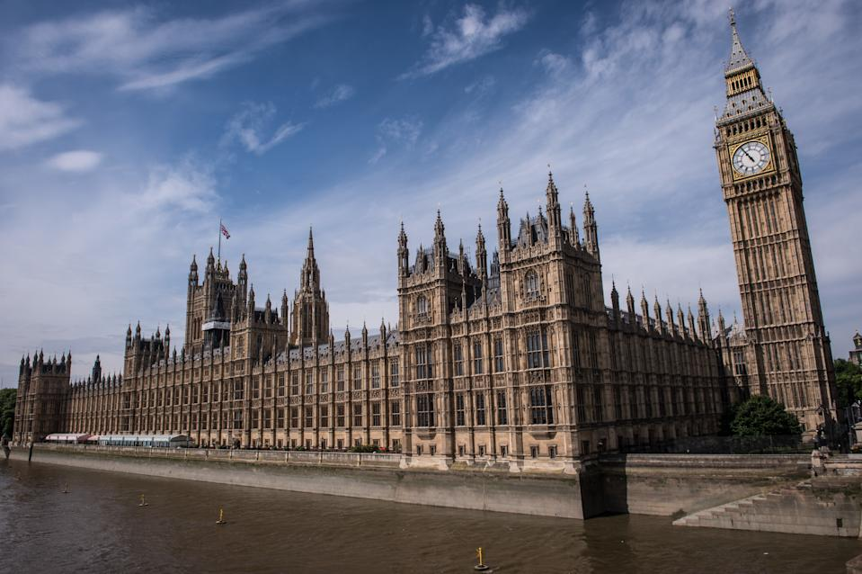 The Palace of Westminster, which contains the House of Commons and the House of Lords, in central London.
