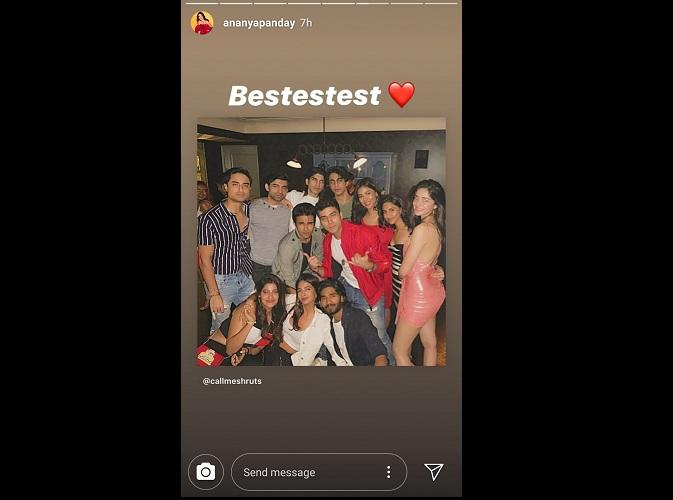 A screenshot from Ananya Panday's Insta stories