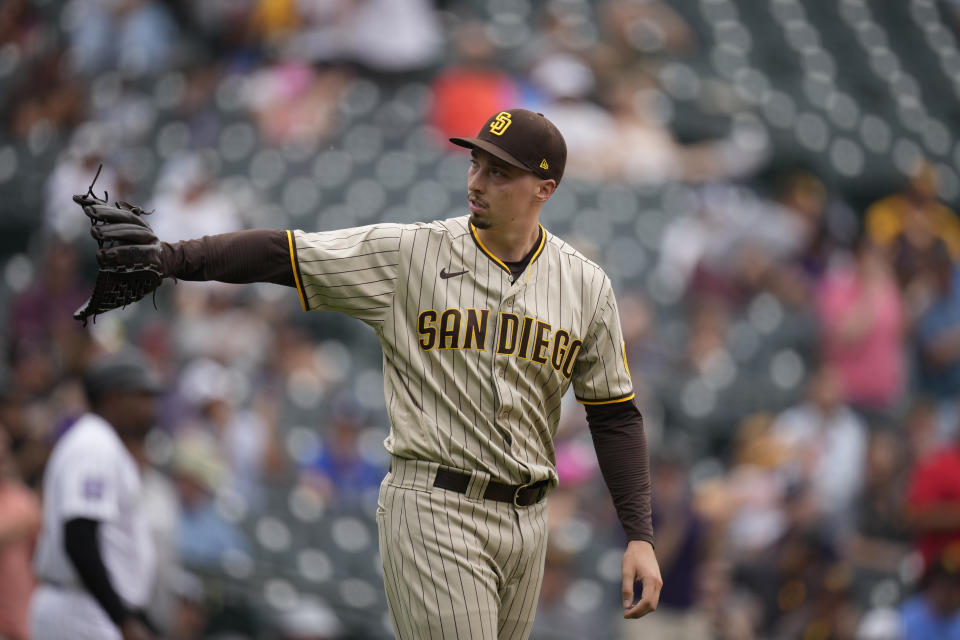 San Diego Padres starting pitcher Blake Snell (4)