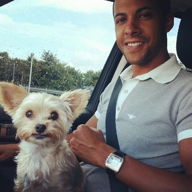 Celebrity Twitpics: The Saturdays' Rochelle Wiseman tweeted this cute photo of her new husband, Marvin Humes, and their cute dog Tiger. We wonder whether they'll be adding a baby to their little family any time soon?!