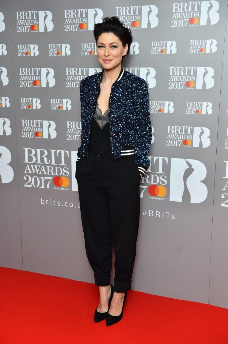 Emma Willis revealed the nominations at The Brits Are Coming Show at the ITV Studios [PA}