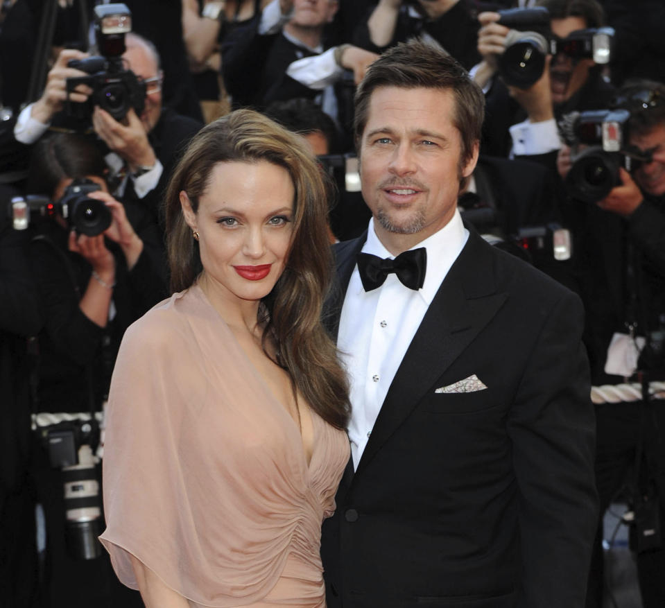 "August 11th 2020 - Angelina Jolie seeks the removal of a private judge in her ongoing divorce case against former husband Brad Pitt. - File Photo by: zz/DP/AAD/STAR MAX/IPx 2009 5/20/09 Angelina Jolie and Brad Pitt at the premiere of ""Inglourious Basterds"" during the 62nd Annual Cannes Film Festival. (Cannes, France)"