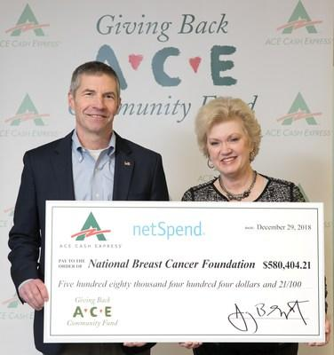 ACE Cash Express CEO Jay Shipowitz presents donation to NBCF