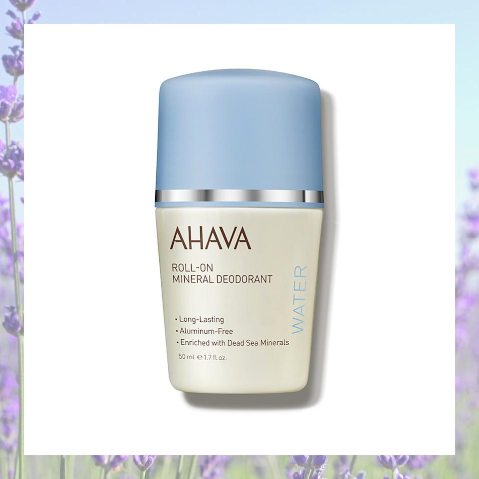 "<h2>Ahava Roll-On Mineral Deodorant</h2> <p>This baby uses botanical extracts for long-lasting odor protection, and the formula contains aloe vera to soothe skin.</p> <p>SHOP NOW: <a href=""https://www.dermstore.com/product_Women+RollOn+Mineral+Deodorant_73575.htm"" rel=""nofollow"">Dermstore</a>, $18</p>"