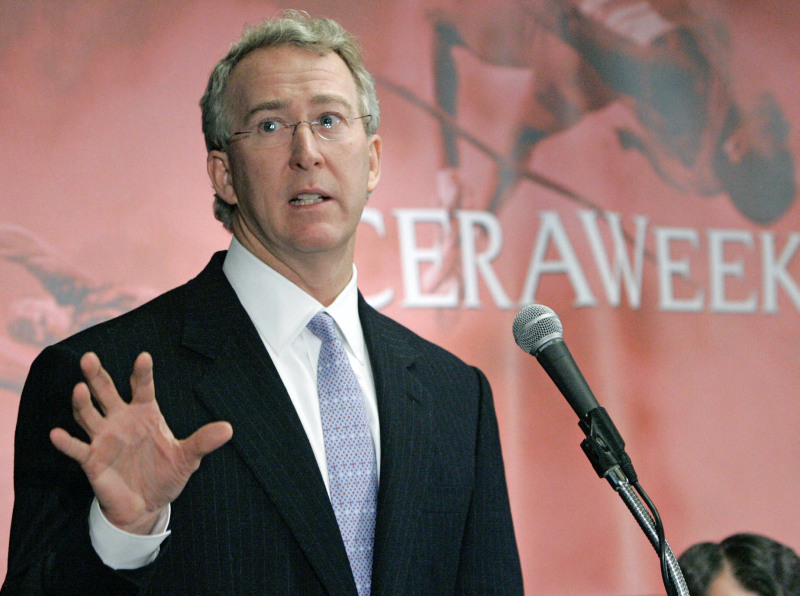 Aubrey K. McClendon, chairman and CEO of Chesapeake Energy Corp., speaks at CERAWeek 2005 in Houston, Texas Tuesday, February 16, 2005. (Photo: Craig Hartley/Bloomberg via Getty Images)
