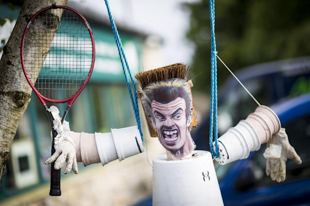 <p>Andy Murray makes an appearance at this years Settle Flowerpot Festival in Settle in the Yorkshire Dales, U.K. on Aug. 7, 2017. (Photo: Andrew McCaren/LNP/REX/Shutterstock) </p>