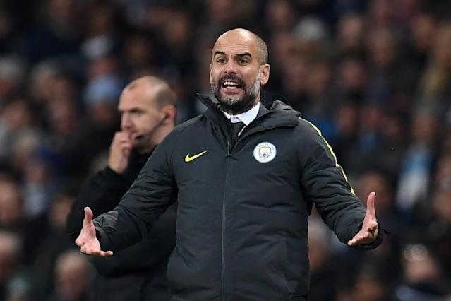 Manchester City's Spanish manager Pep Guardiola gestures on the touchline during the English Premier League football match between Manchester City and Arsenal at the Etihad Stadium in Manchester, north west England, on December 18, 2016 (AFP Photo/Paul ELLIS)