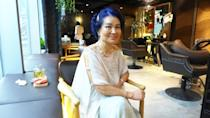 <p>Madame Leekaja, who is now in her 70s, flew to Singapore for the launch of her beauty chain. She is seen here dressed in a white dress and spotting blur hair. </p>