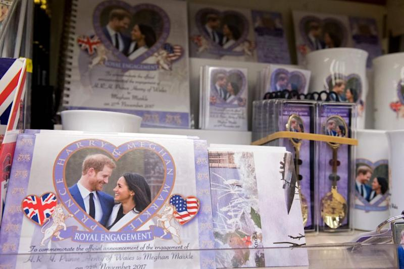 What better way to celebrate the royal wedding than with some official merchandise? Photo: Getty