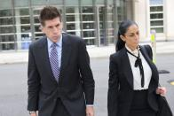 Defense attorneys for R. Kelly, Thomas Farinella and Nicole Blank Becker, leave Brooklyn federal court as singer R. Kelly's sex abuse trial continues in Brooklyn, New York
