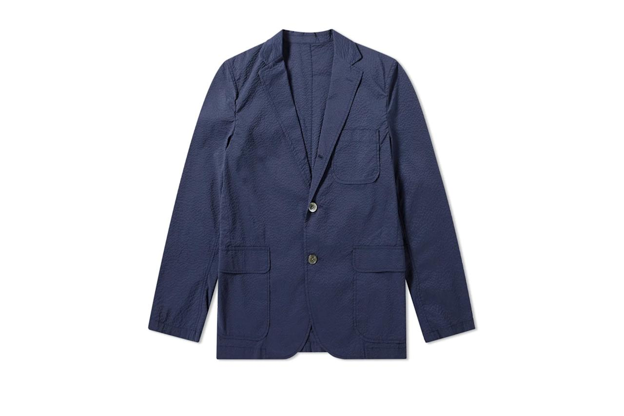 """$279, End Clothing. <a href=""""https://www.endclothing.com/us/beams-plus-3-button-seersucker-blazer-1116-0888-139-79.html"""">Get it now!</a>"""