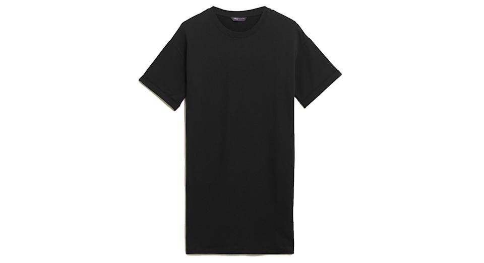 Cotton Crew Neck Longline T-Shirt