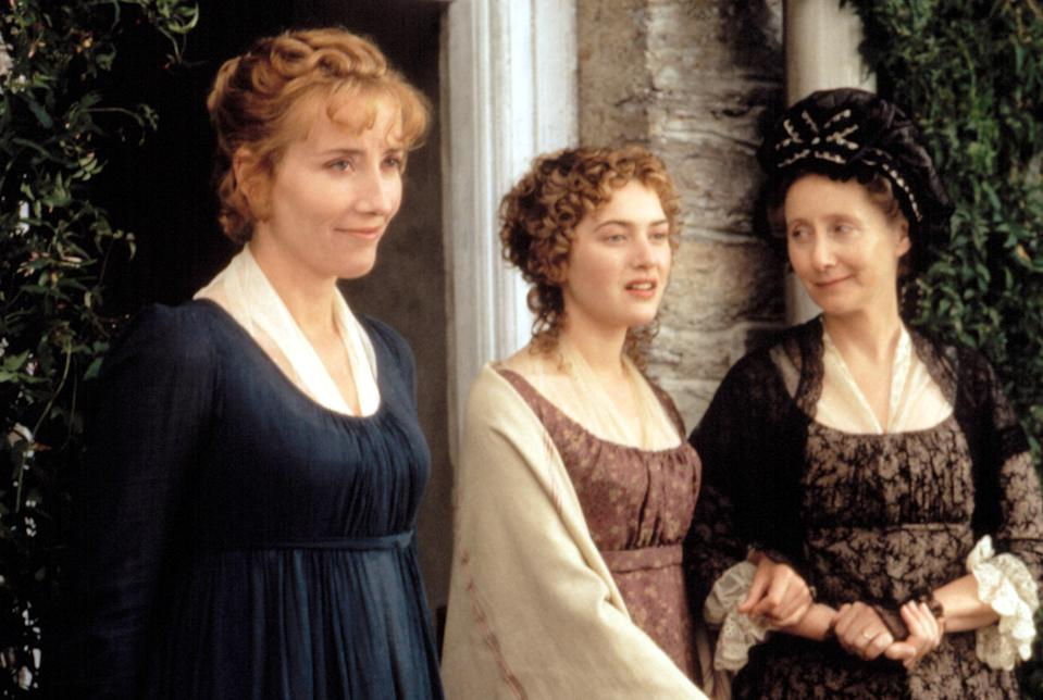 "<p>In addition to playing lead Elinor Dashwood, Emma Thompson wrote the screenplay for this beautiful adaptation of Jane Austen's novel directed by Ang Lee. Thompson even won the Academy Award for her work, making her the first person to win Oscars for both acting and screenwriting.</p> <p><em>Available to buy on</em> <a href=""https://www.amazon.com/Sense-Sensibility-Hugh-Grant/dp/B0019TYQ38/"" rel=""nofollow noopener"" target=""_blank"" data-ylk=""slk:Amazon Prime Video"" class=""link rapid-noclick-resp""><em>Amazon Prime Video</em></a><em>.</em></p>"