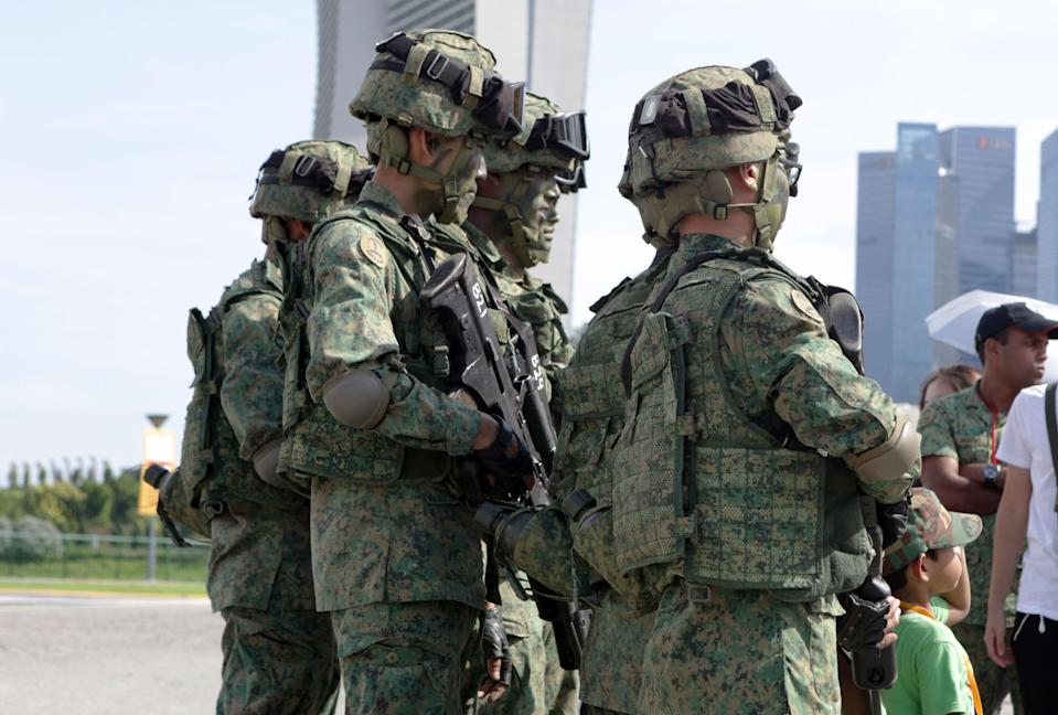 Singapore Armed Forces (SAF) National Servicemen, soldiers (Yahoo News Singapore file photo)