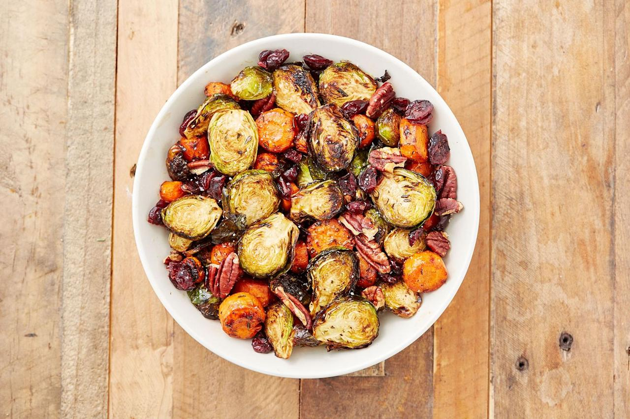 """<p>Do yourself a favor and skip the wilted green salad.</p><p>Get the recipe from <a href=""""https://www.delish.com/cooking/recipe-ideas/recipes/a50228/holiday-roasted-vegetables-recipe/"""" target=""""_blank"""">Delish</a>.</p><section></section>"""