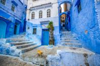 """Libra is a cardinal air sign, ruled by Venus and drawn to beauty and courtship. They are true appreciators of art, architecture, and other aesthetically pleasing things in life. Enter <a href=""""https://www.cntraveler.com/galleries/2015-08-21/moroccos-best-kept-secret-is-this-all-blue-village?mbid=synd_yahoo_rss"""" rel=""""nofollow noopener"""" target=""""_blank"""" data-ylk=""""slk:Chefchaouen"""" class=""""link rapid-noclick-resp"""">Chefchaouen</a>, aka Morocco's Blue Pearl, a 15th-century fortress town in the Rif mountains. White says blue is a special color for Libra, and Chefchaouen is famous for its blue-hued buildings. With their exacting standards, Libras will expect the finest accommodations: The <a href=""""http://www.linaryad.com/"""" rel=""""nofollow noopener"""" target=""""_blank"""" data-ylk=""""slk:Lina Ryad & Spa"""" class=""""link rapid-noclick-resp"""">Lina Ryad & Spa</a>, inside the ancient medina, delivers impeccable hospitality and luxurious hammam treatments. Wandering this photogenic town, shopping for textiles, and drinking mint tea with strangers will appeal to Libra's sociable nature."""