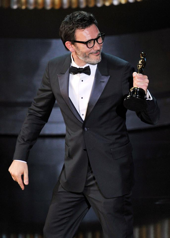 Michel Hazanavicius on stage during the 84th Annual Academy Awards in Hollywood, CA.