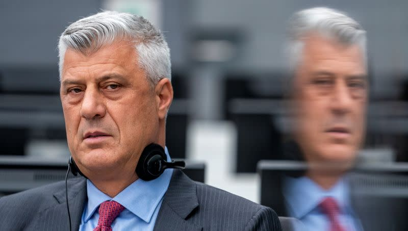 Former Kosovo President Hashim Thaci appears before the Kosovo Specialist Chambers in The Hague