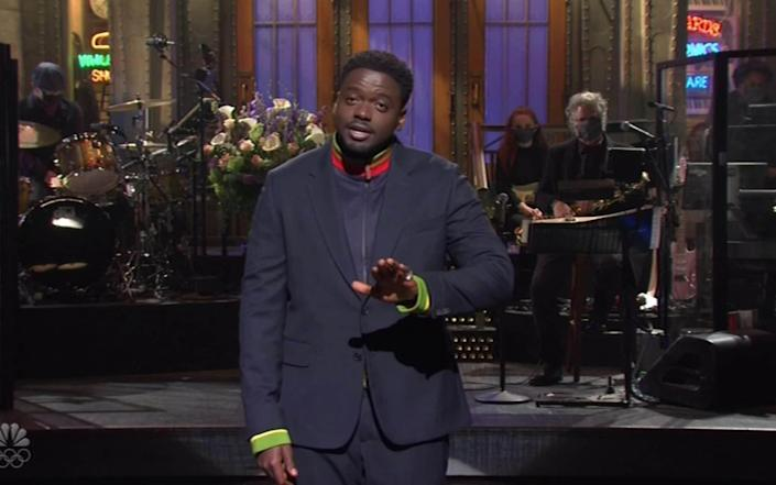 Daniel Kaluuya pokes fun at Megxit and the Royal rift as he hosts Saturday Night Live for the first time