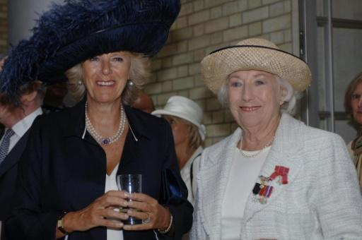 When Dame Vera Lynn (R) turned 100 in 2017, her image was projected onto the famed White Cliffs of Dover