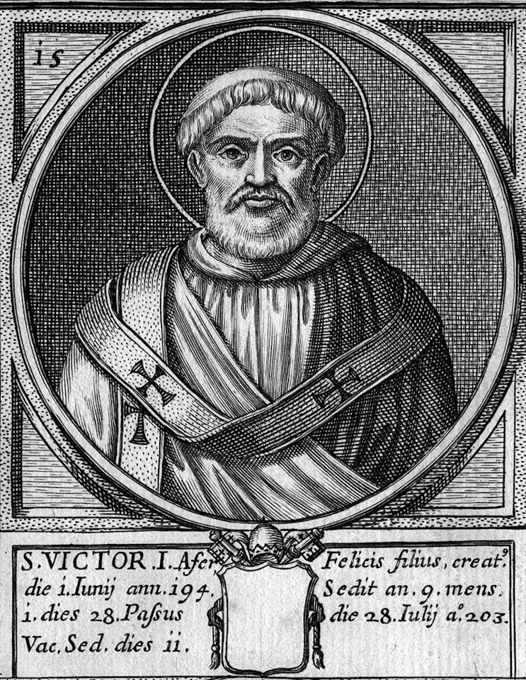 Circa 203 AD, Pope Victor I, St Victor, who held papal office from 189 to 199. (Photo by Hulton Archive/Getty Images)