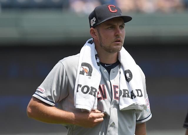 Trevor Bauer is staying in Ohio, but not with Cleveland. (Getty Images)