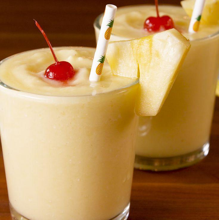 "<p>Bring island vibes to your backyard with these tropical-flavored slushies, made with pineapple chunks, lemonade, and sweet coconut milk. Don't forget the cherry on top! </p><p><strong><em>Get the recipe from <a href=""https://www.delish.com/cooking/recipe-ideas/a27167774/dole-whip-lemonade-recipe/"" rel=""nofollow noopener"" target=""_blank"" data-ylk=""slk:Delish"" class=""link rapid-noclick-resp"">Delish</a>.</em></strong></p>"