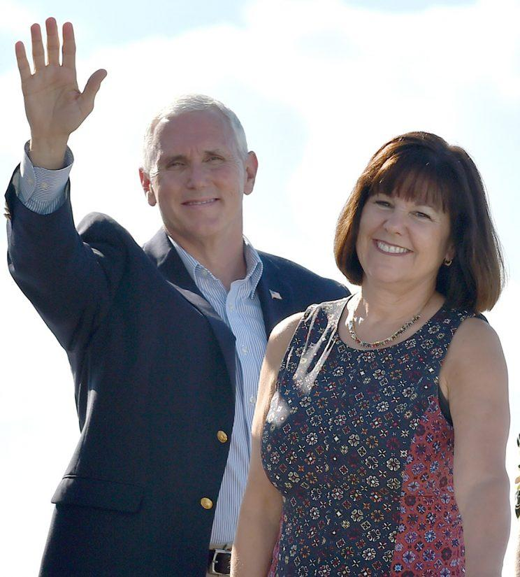 Vice President Mike Pence and his wife, Karen Pence
