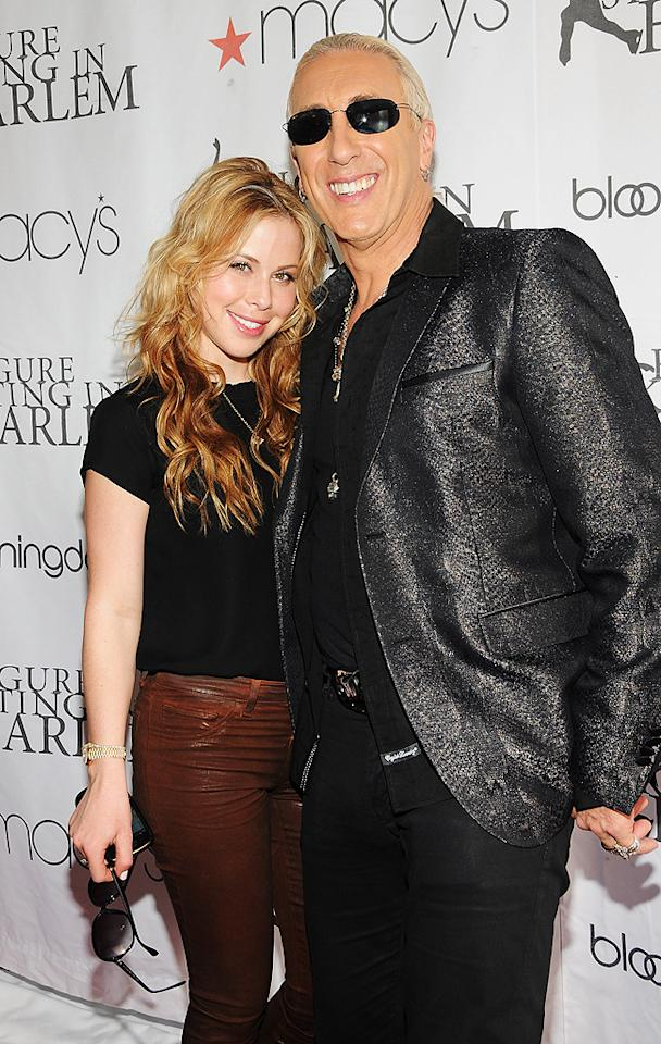 "Olympic figure skater Tara Lipinski said hello to ""Celebrity Apprentice"" cast-off Dee Snider on the red carpet. Later in the evening, guests had the opportunity to skate with her and other Olympic and World champions. (4/2/2012)"