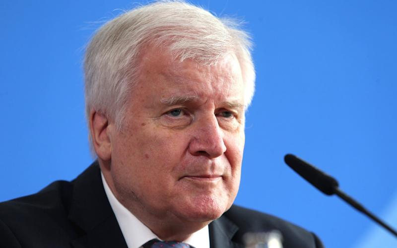 n: Mandatory Credit: Photo by MIKA SCHMIDT/POOL/EPA-EFE/Shutterstock (10675376r) German Minister of Interior Horst Seehofer speaks during a press conference about the border controls due to the Coronavirus, Berlin, Germany, 10 June 2020. Horst Seehofer on border controls, Berlin, Germany - 10 Jun 2020 - MIKA SCHMIDT/POOL/EPA-EFE/Shutterstock
