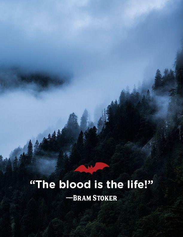 """<p>""""The blood is the life!""""</p>"""