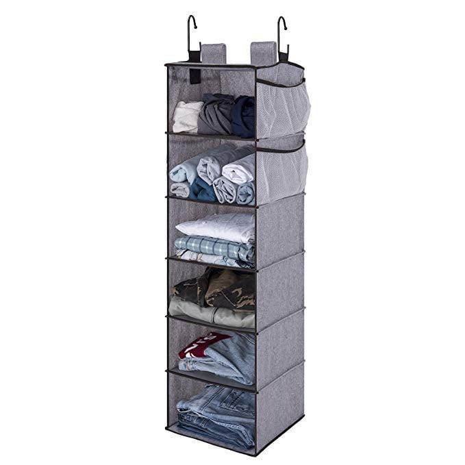 """<p>The <a href=""""https://www.popsugar.com/buy/StorageWorks%20Hanging%20Closet%20Organizer-465747?p_name=StorageWorks%20Hanging%20Closet%20Organizer&retailer=amazon.com&price=30&evar1=casa%3Auk&evar9=46355519&evar98=https%3A%2F%2Fwww.popsugar.com%2Fhome%2Fphoto-gallery%2F46355519%2Fimage%2F46355528%2FStorageWorks-Hanging-Closet-Organizer&list1=college%2Corganization%2Cclosets%2Csmall%20spaces%2Ccloset%20organization%2Csmall%20space%20living%2Cdorms&prop13=api&pdata=1"""" rel=""""nofollow noopener"""" target=""""_blank"""" data-ylk=""""slk:StorageWorks Hanging Closet Organizer"""" class=""""link rapid-noclick-resp"""">StorageWorks Hanging Closet Organizer</a> ($30, originally $36) features two side pockets and two hanging methods, so no matter your closet set up or storage needs, this organizer (which holds up to 40 pounds) will get the job done.</p>"""
