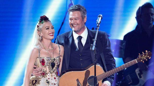 PHOTO: Gwen Stefani and Blake Shelton perform at The 62nd Annual Grammy Awards in Los Angeles, Sunday, Jan. 26, 2020. (Cbs Photo Archive/CBS via Getty Images)