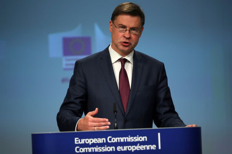 FILE PHOTO: EU's anti-fraud package presentation in Brussels