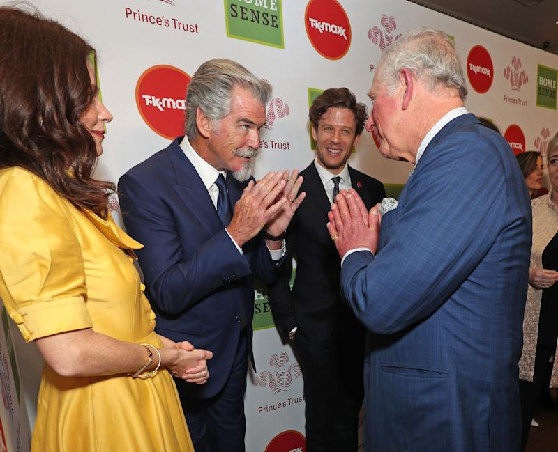 Charles greets Ant and Dec with namaste gesture at Prince's Trust Awards