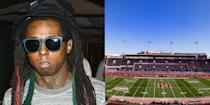 """<p><strong>University of Houston</strong></p><p>Dwayne Michael Carter Jr., a.k.a. Lil Wayne, attended the University of Houston where he majored in political science. In a <a href=""""http://www.mtv.com/news/1496842/lil-wayne-hits-the-books-in-h-town-stays-with-his-cash-money-crew/"""" rel=""""nofollow noopener"""" target=""""_blank"""" data-ylk=""""slk:2005 interview with MTV"""" class=""""link rapid-noclick-resp"""">2005 interview with MTV</a>, Lil Wayne talks about his decision to go to college.</p><p>""""I'm not going back to school,"""" clarified Wayne, who's been making music professionally since he was nine years old and recently acquired his GED. """"I'm really going to school for the first time.""""<br></p>"""