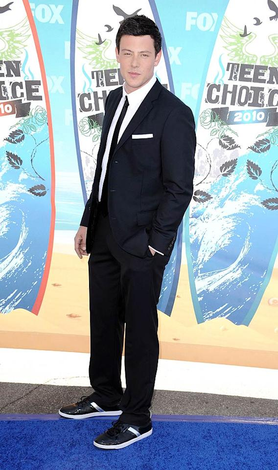 """<b>Cory Monteith (Grade: A)</b>  """"Glee"""" heartthrob Cory Monteith, one of the evening's many hosts, achieved just the right blend of elegance -- via his classic suit -- and playfulness, provided by his fun footwear. Steve Granitz/<a href=""""http://www.wireimage.com"""" target=""""new"""">WireImage.com</a> - August 8, 2010"""