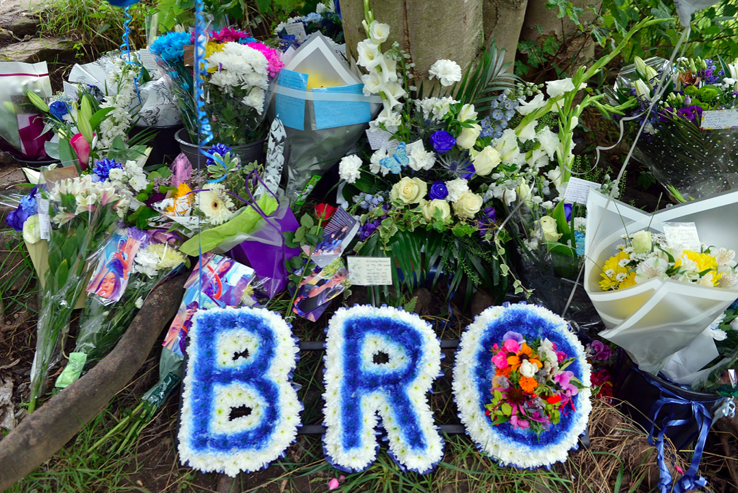 Tributes for Logan Folger have been left by Chesterfield canal. (SWNS)