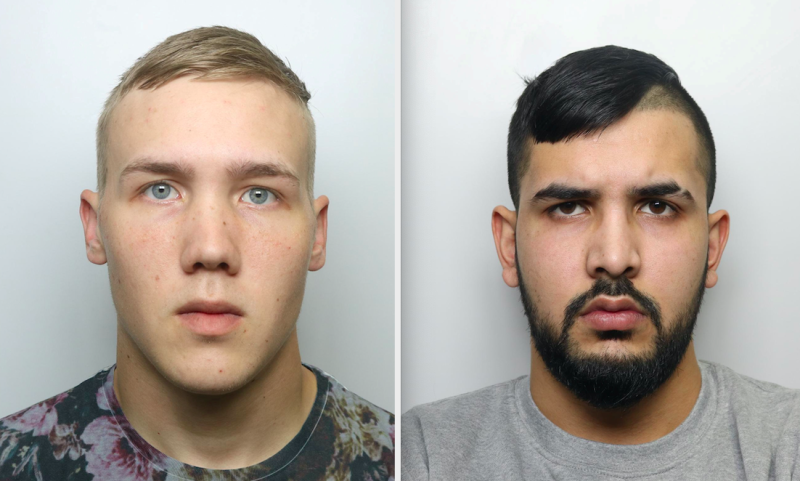 Richard Bereczki (left) and Adeel Abbas (right) have been jailed after assaulting a man with baseball bats. (SWNS)