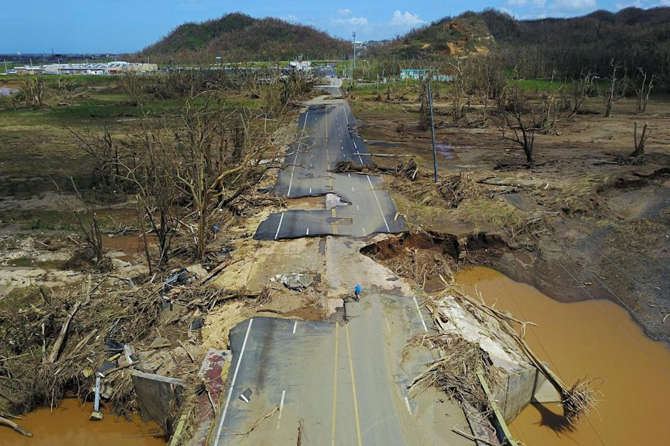 Hurricane Maria wreaked devastation on Puerto Rico, leaving millions without access to basic necessities (AFP/Getty)